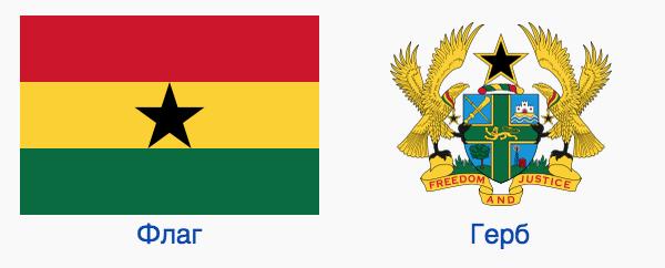 Флаг и Герб Ганы