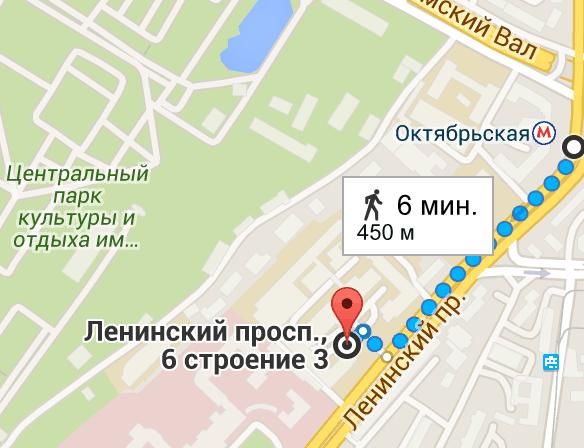 Карта Главэкспертцентр в Москве