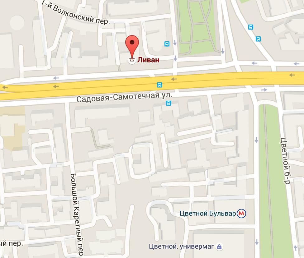 Карта посольство Ливана