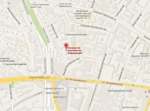 посольство Голландии в Москве на карте