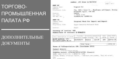 Дополнительные документы в ТПП