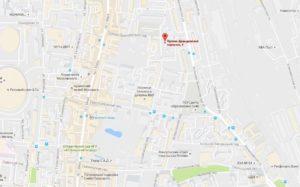 посольство Эфиопии на карте
