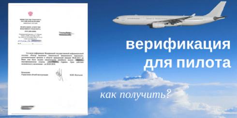 верификация для пилота