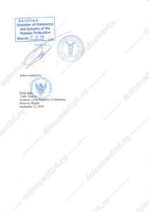 Письмо посольство Индонезии