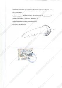 Доверенность на русском из Италии 2